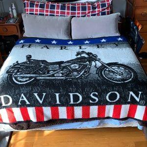 Biederlack Harley Davidson blanket . Made in USA